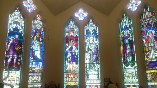 One of many stained glass windows.