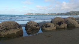 A few boulders closer to the water