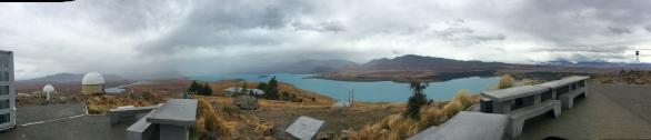 A pan-shot of Lake Tekapo taken with my iPad