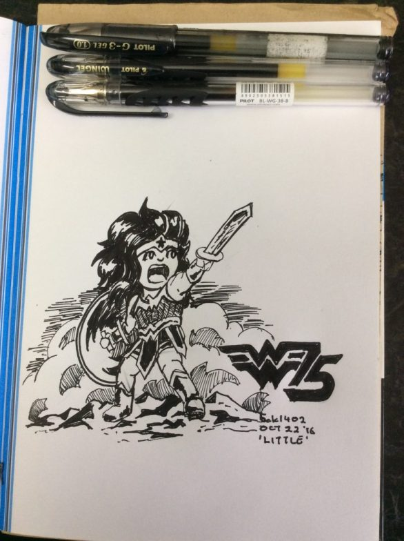 "Wonder Woman is celebrating 75 years this month - more or less around this day - so another ""Little"" chibi-like tribute."